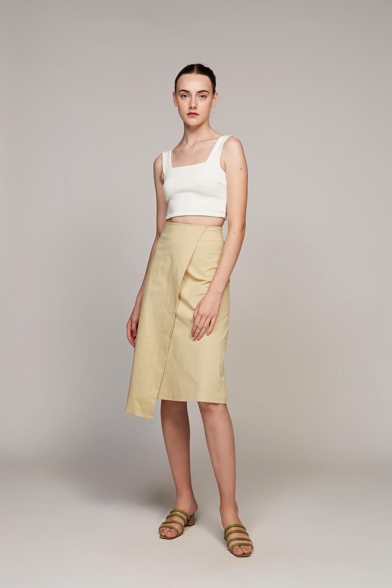 Overlap Midi Skirt