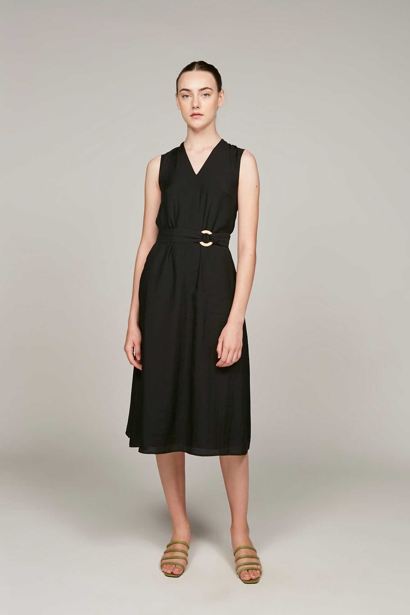 Loop Buckle Midi Dress