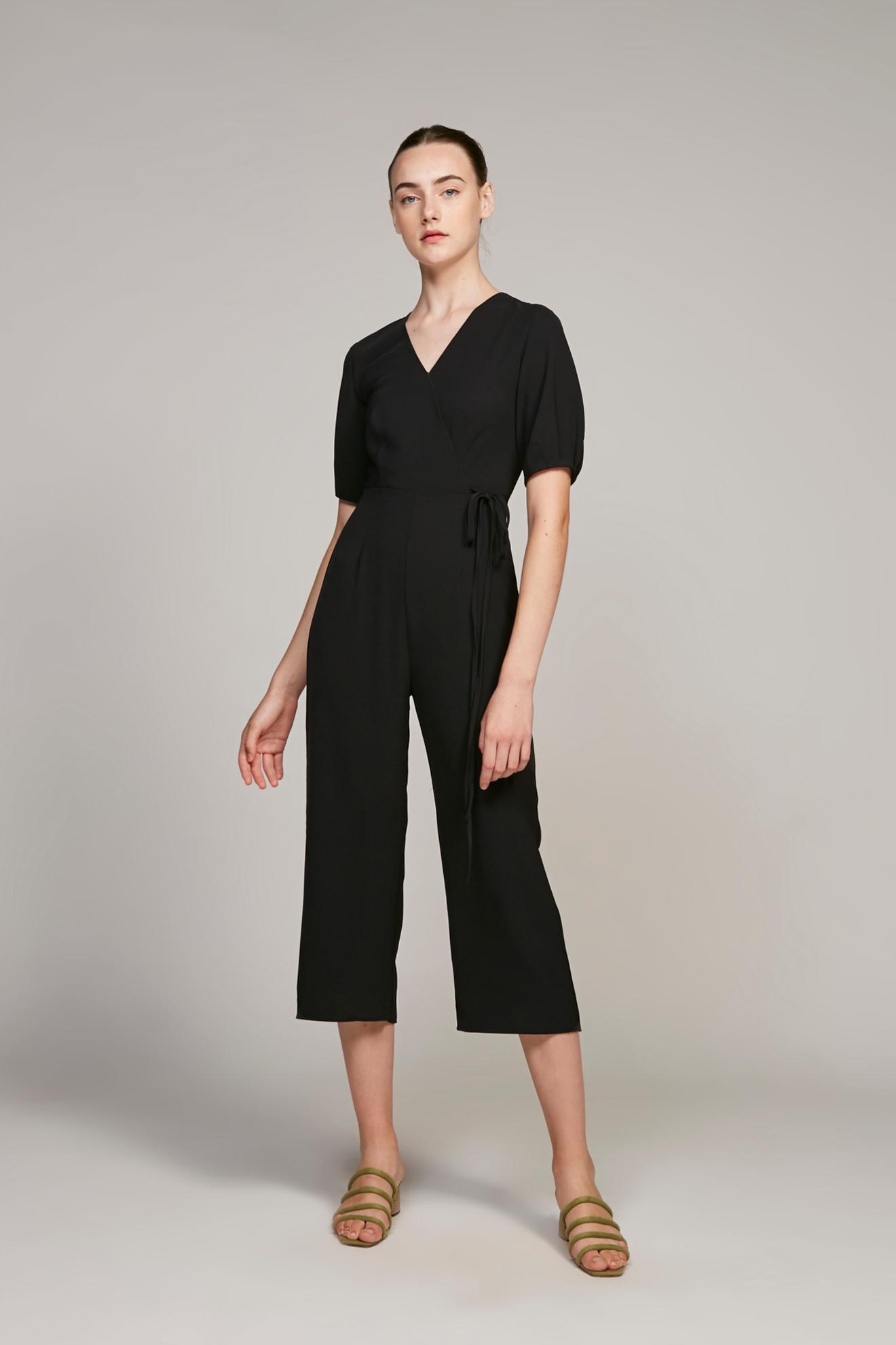 Pleat Sleeve Jumpsuit