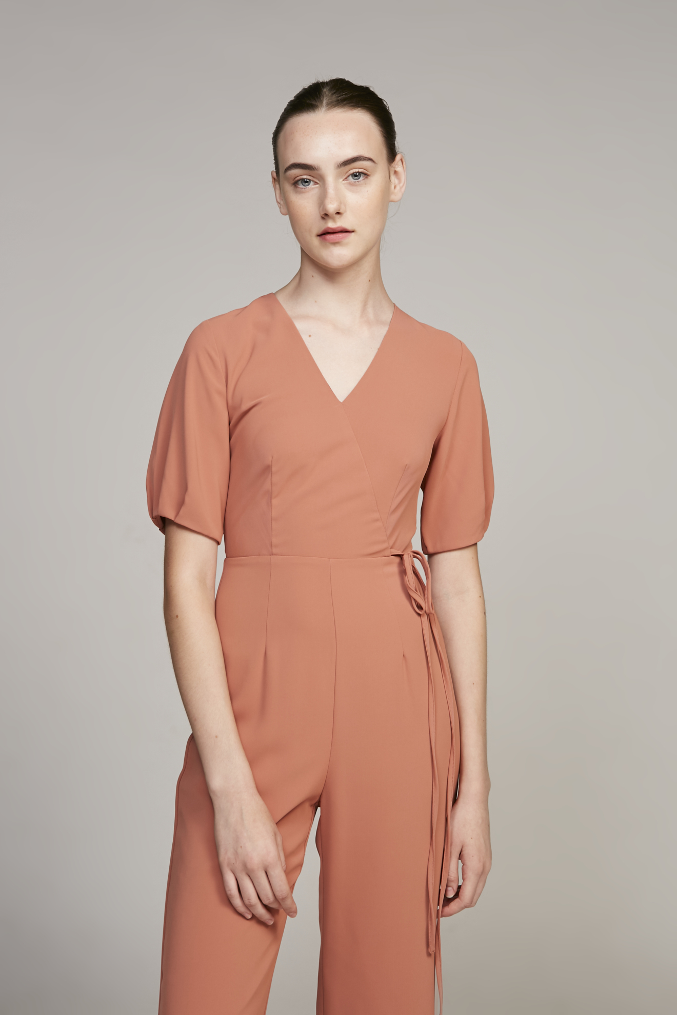 Pleat Sleeve Jumpsuit