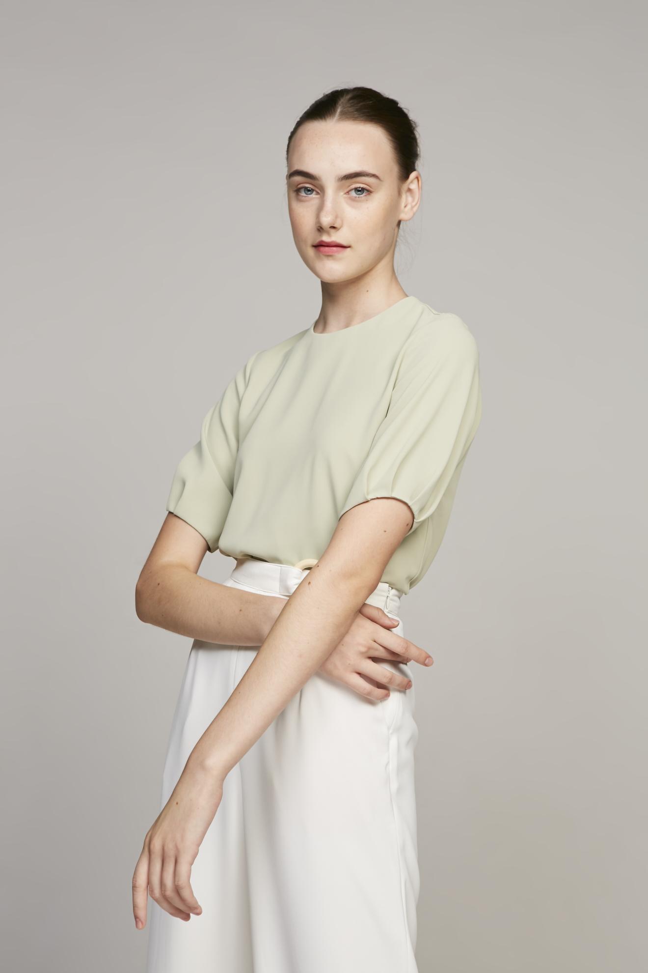 Pleat Sleeve Blouse