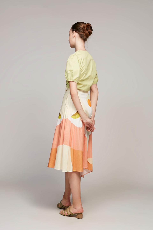 Morning Asymmetrical Midi Skirt