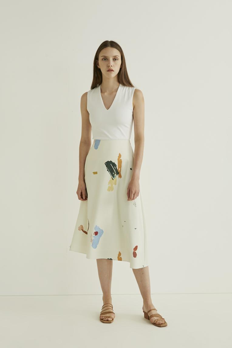 Fragments Midi Skirt