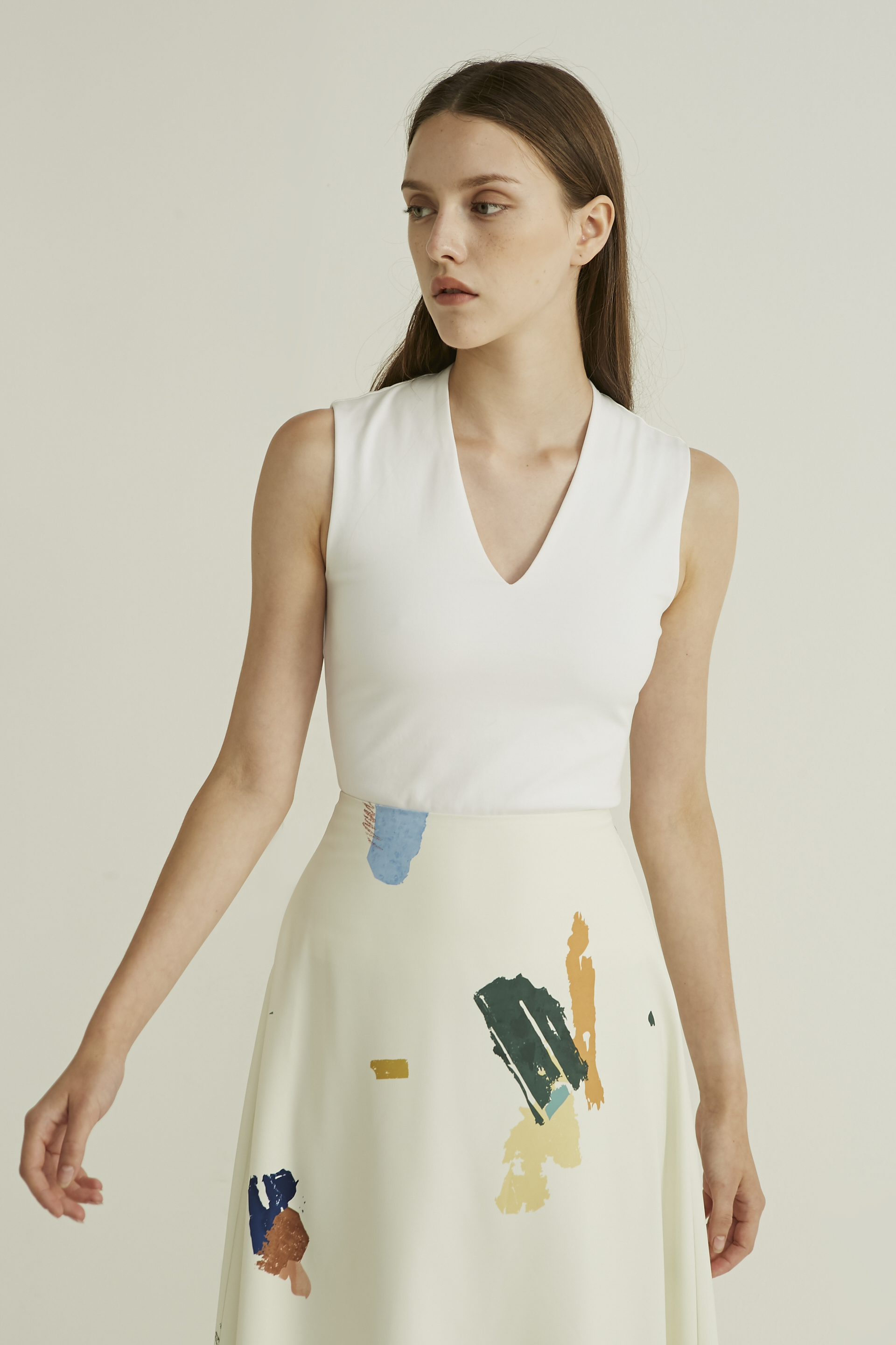 Fragments Midi Skirt