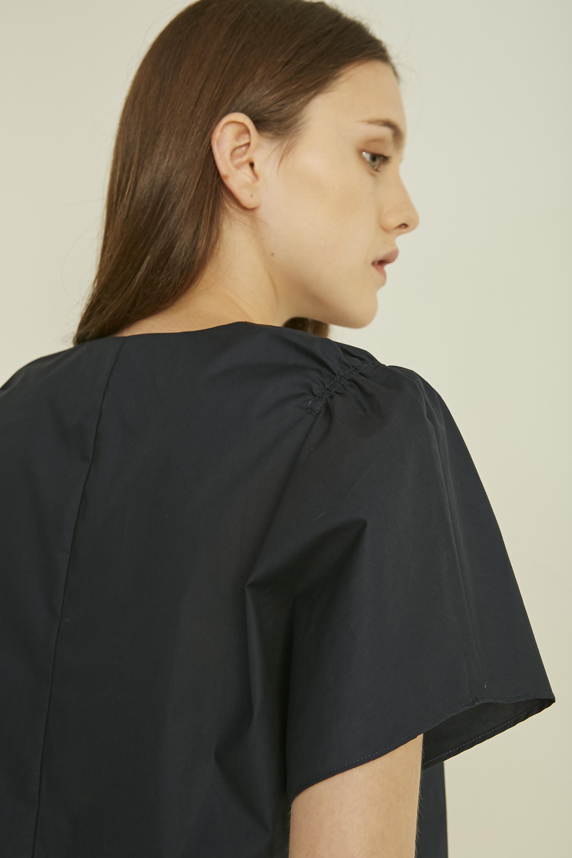 Gathered Shoulder Crop Top