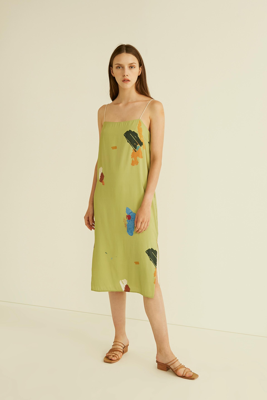 Fragments Slip Dress