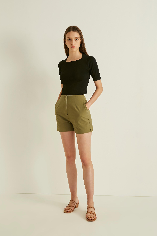 Cotton High-Waisted Shorts