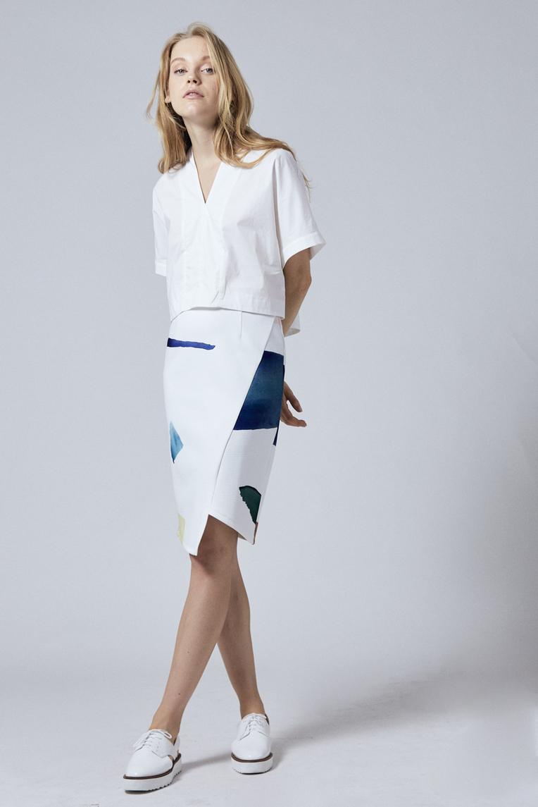 Birthstone Asymmetrical Pencil Skirt