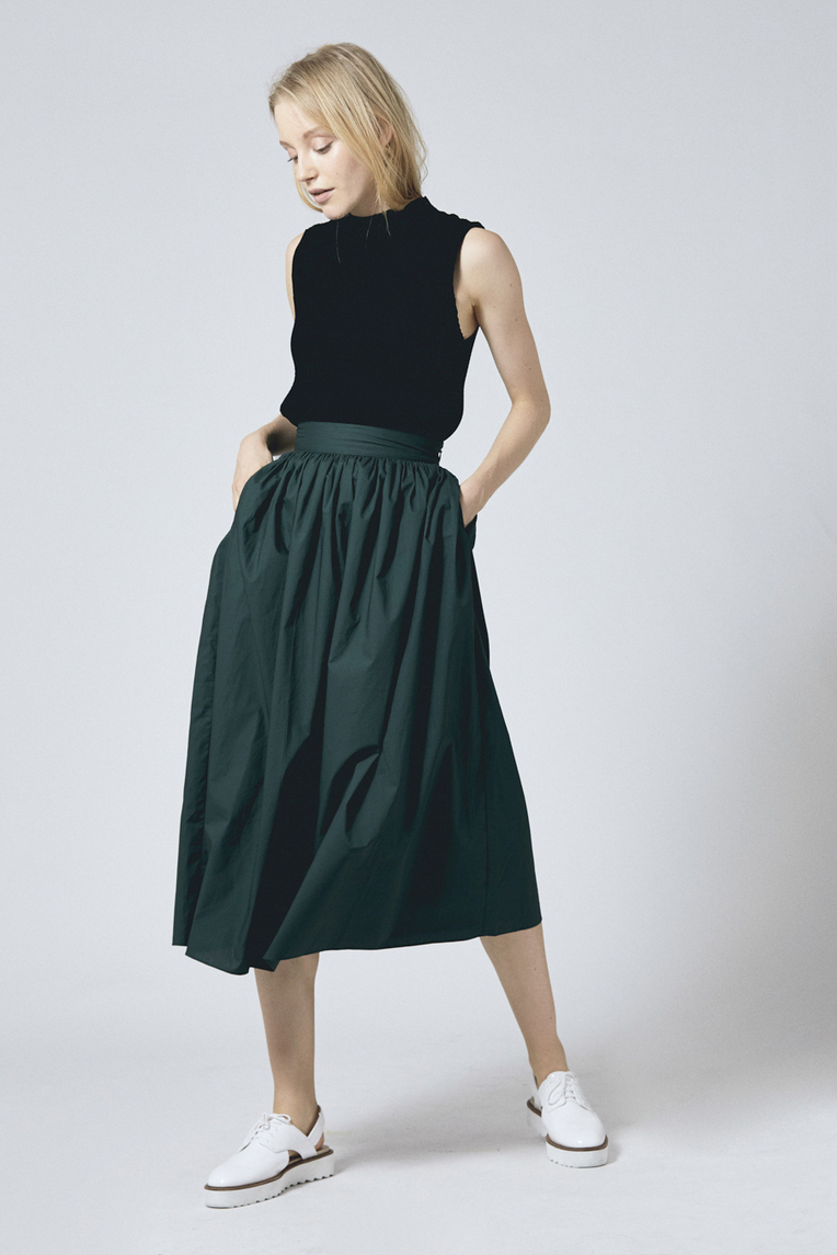 Cotton High-waisted Skirt