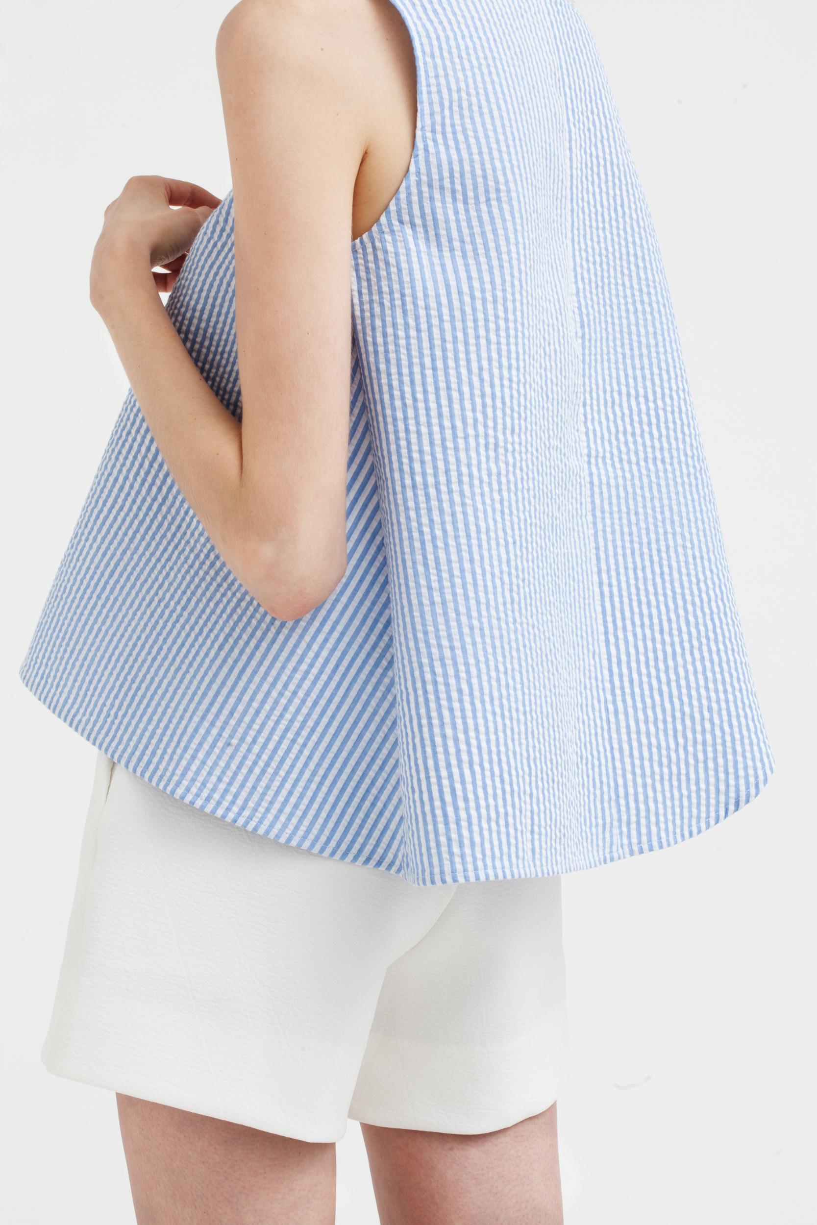 Striped Foldover Top