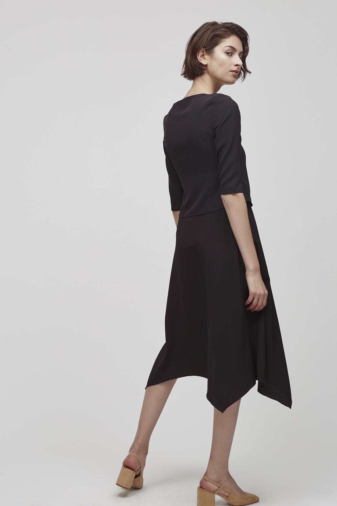 Pointed Hem Skirt