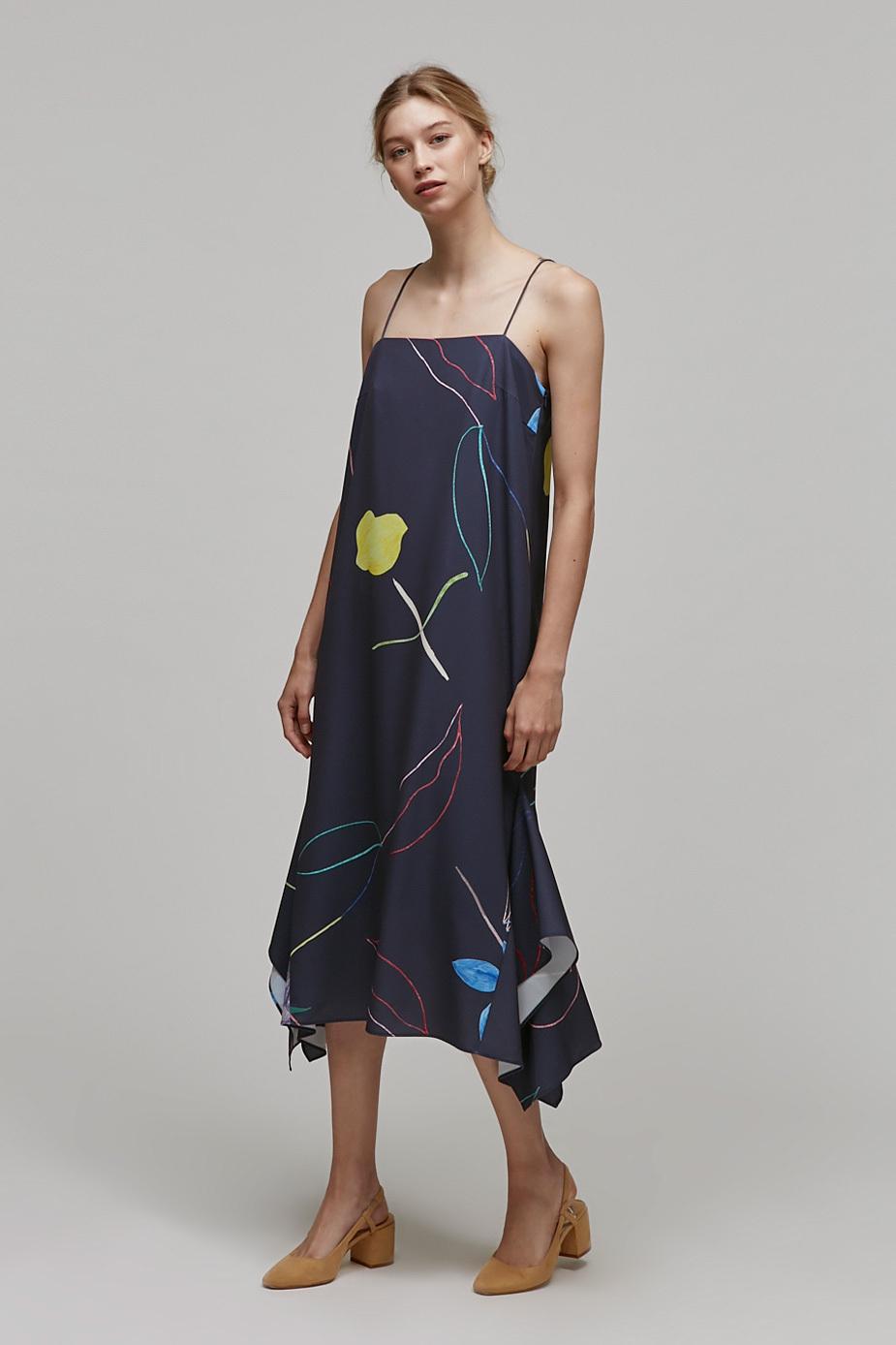 Sketch Handkerchief Dress