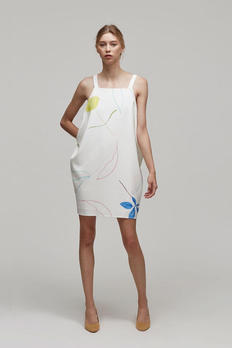 Sketch Drape Dress