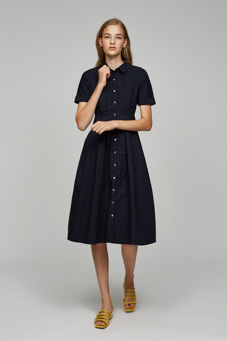 Cotton Pleated Dress