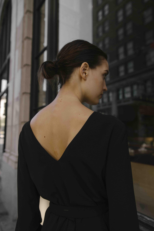 Pleat Sleeve Dress