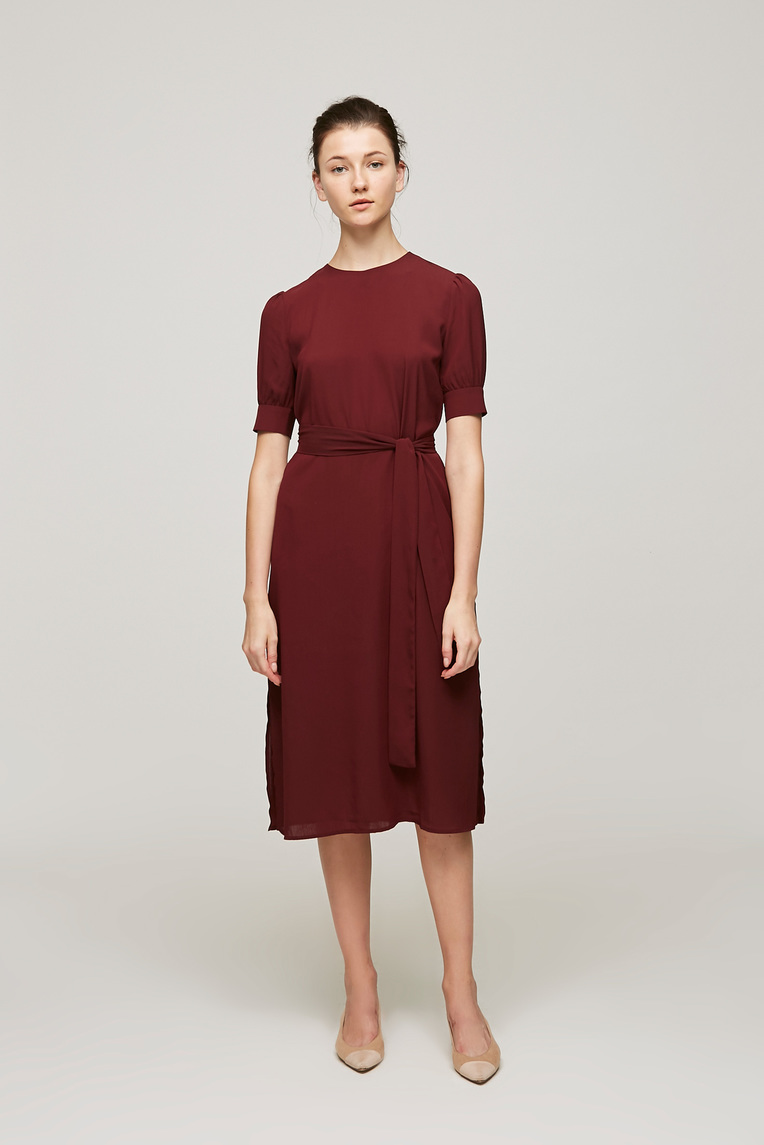 Cuff Sleeve Shift Dress