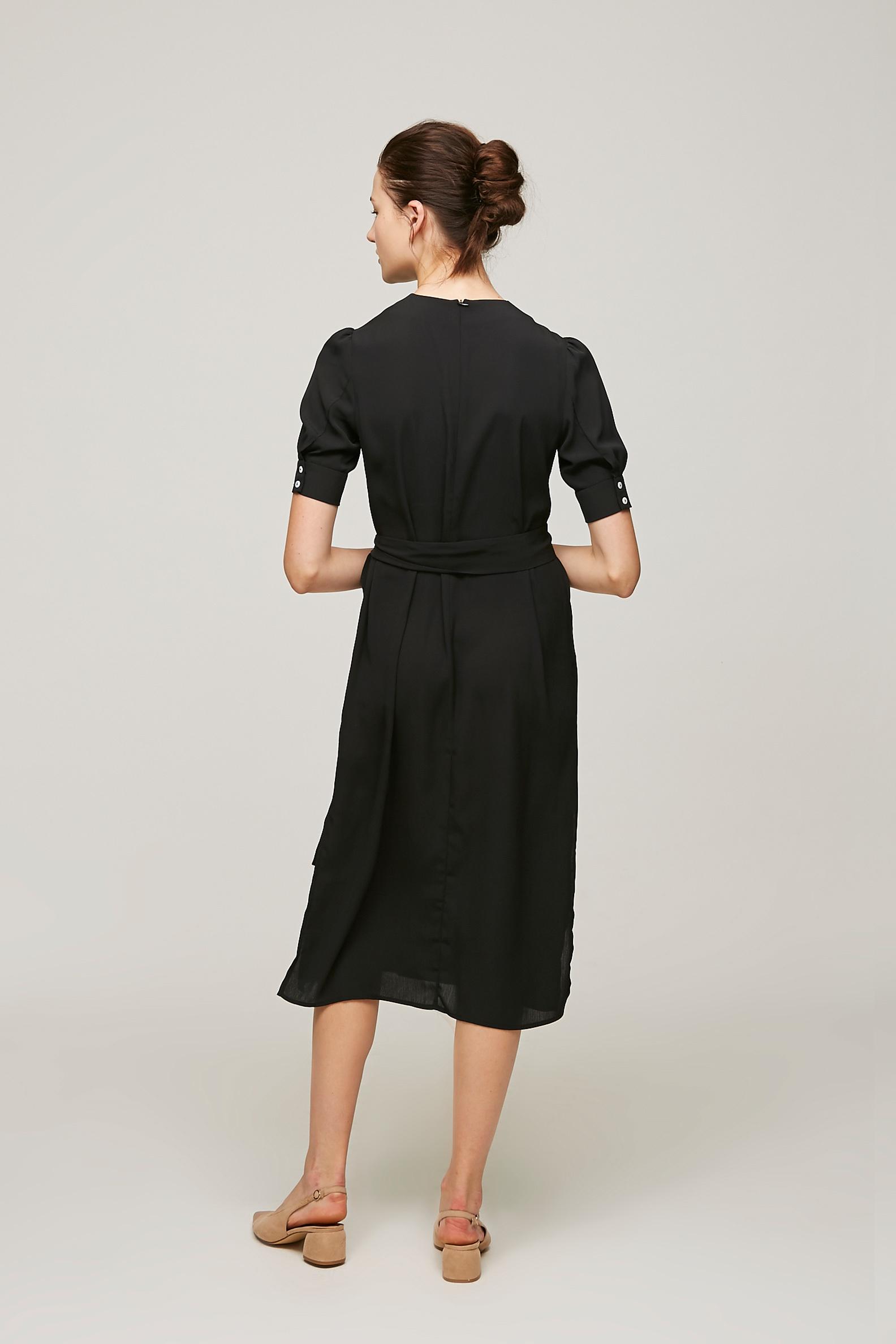Cuff Sleeve Shift Dress
