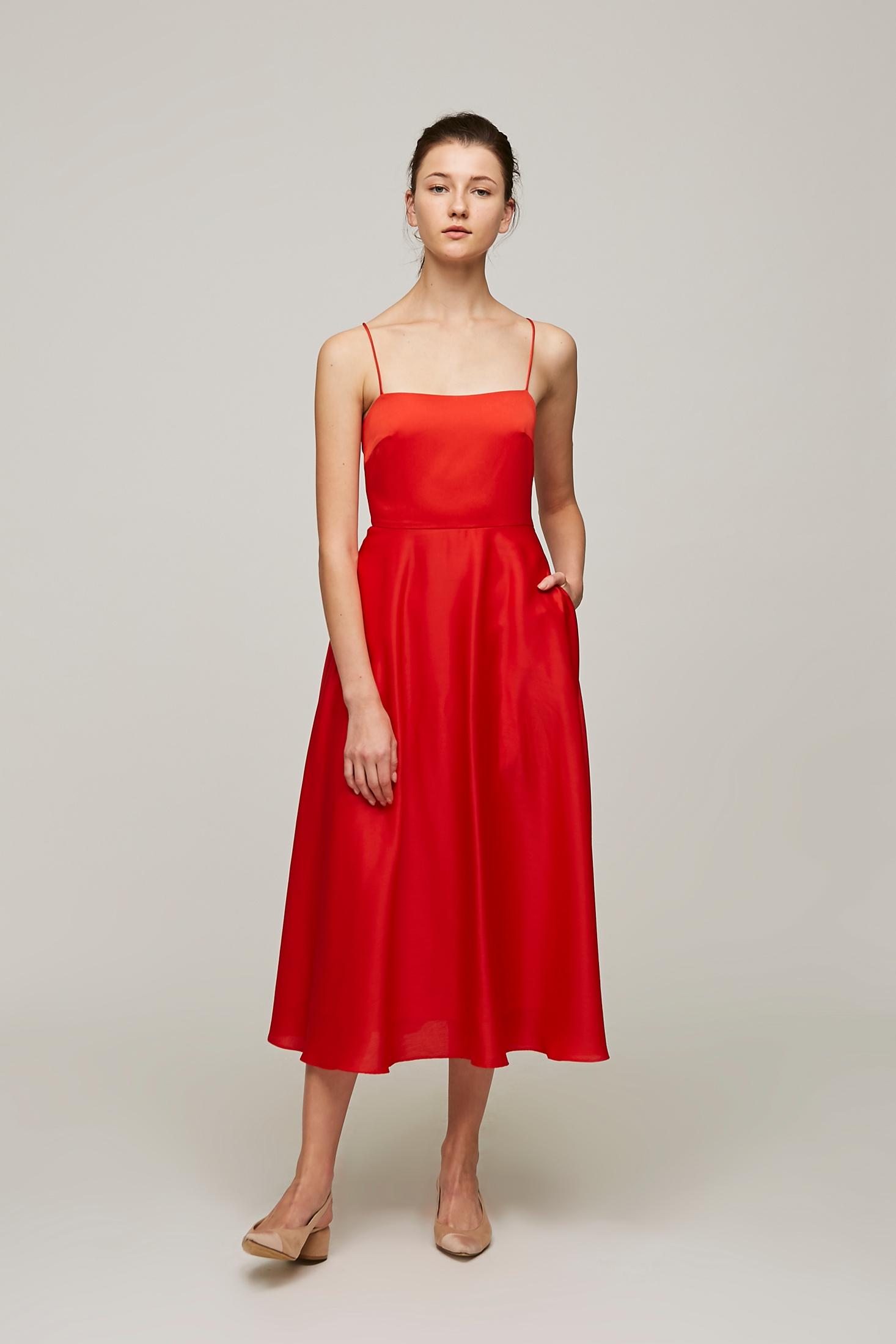 Cross Back Midi Dress
