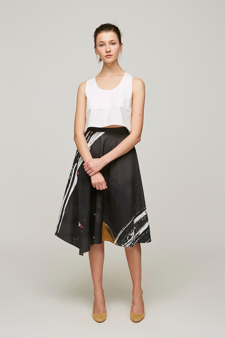 Dune Asymmetric Midi Skirt
