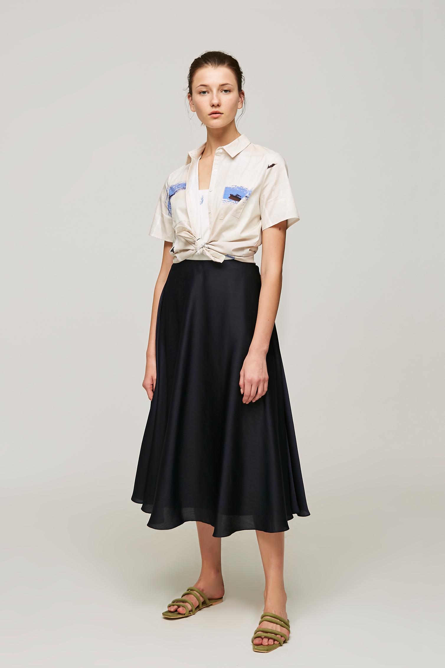 Circle Midi Skirt