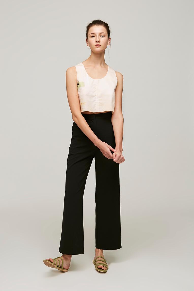 Crepe Longline Pants