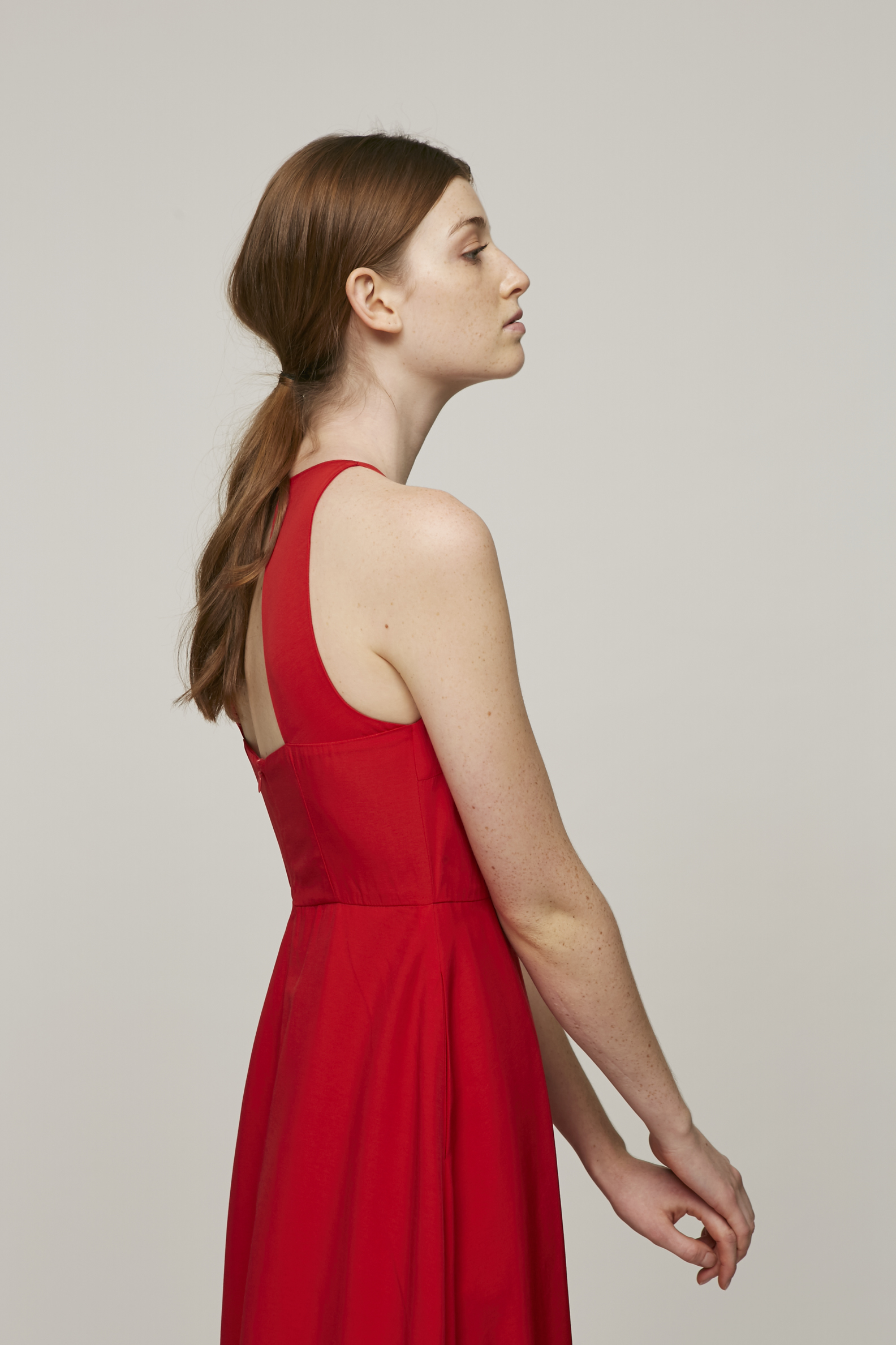 Open-Back Midi Dress