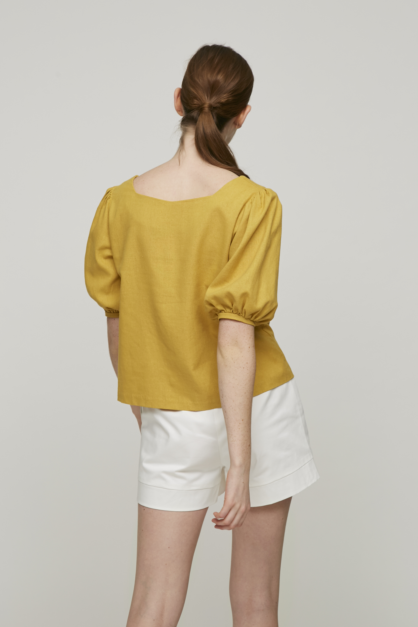 Two-Way Linen Blouse