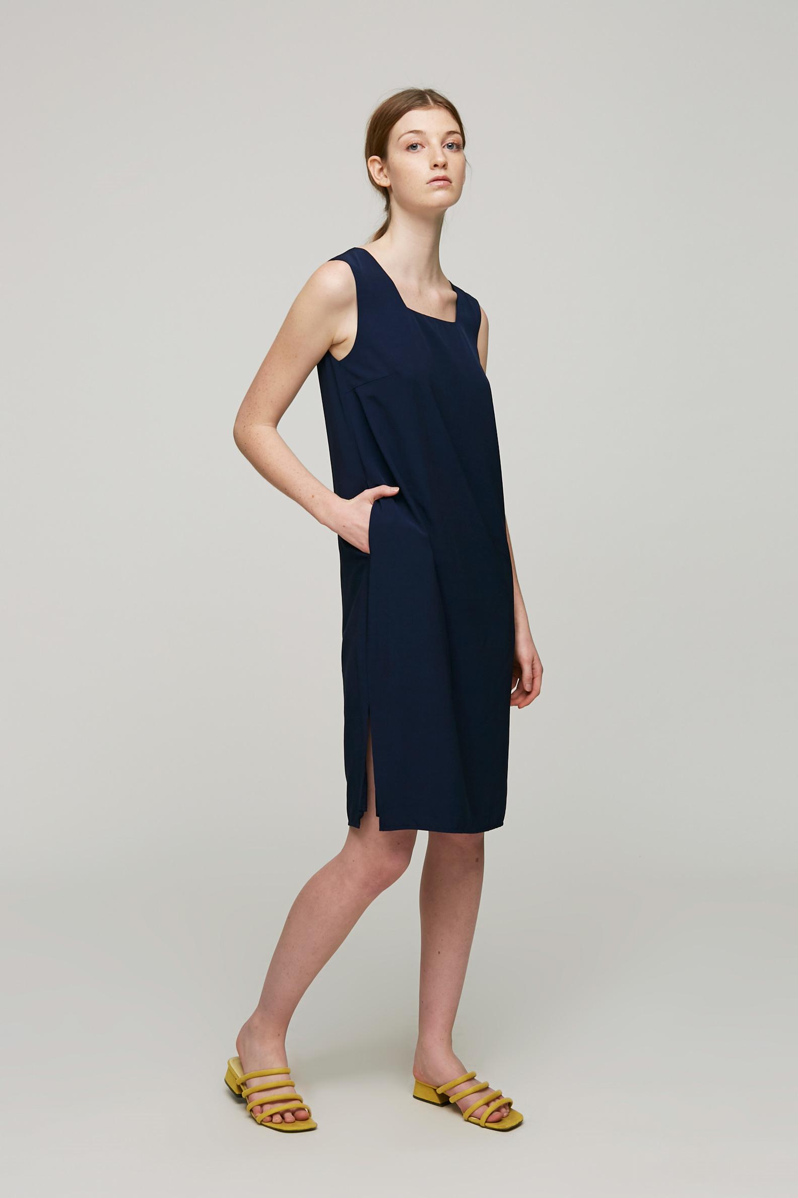 Square-Neck Shift Dress
