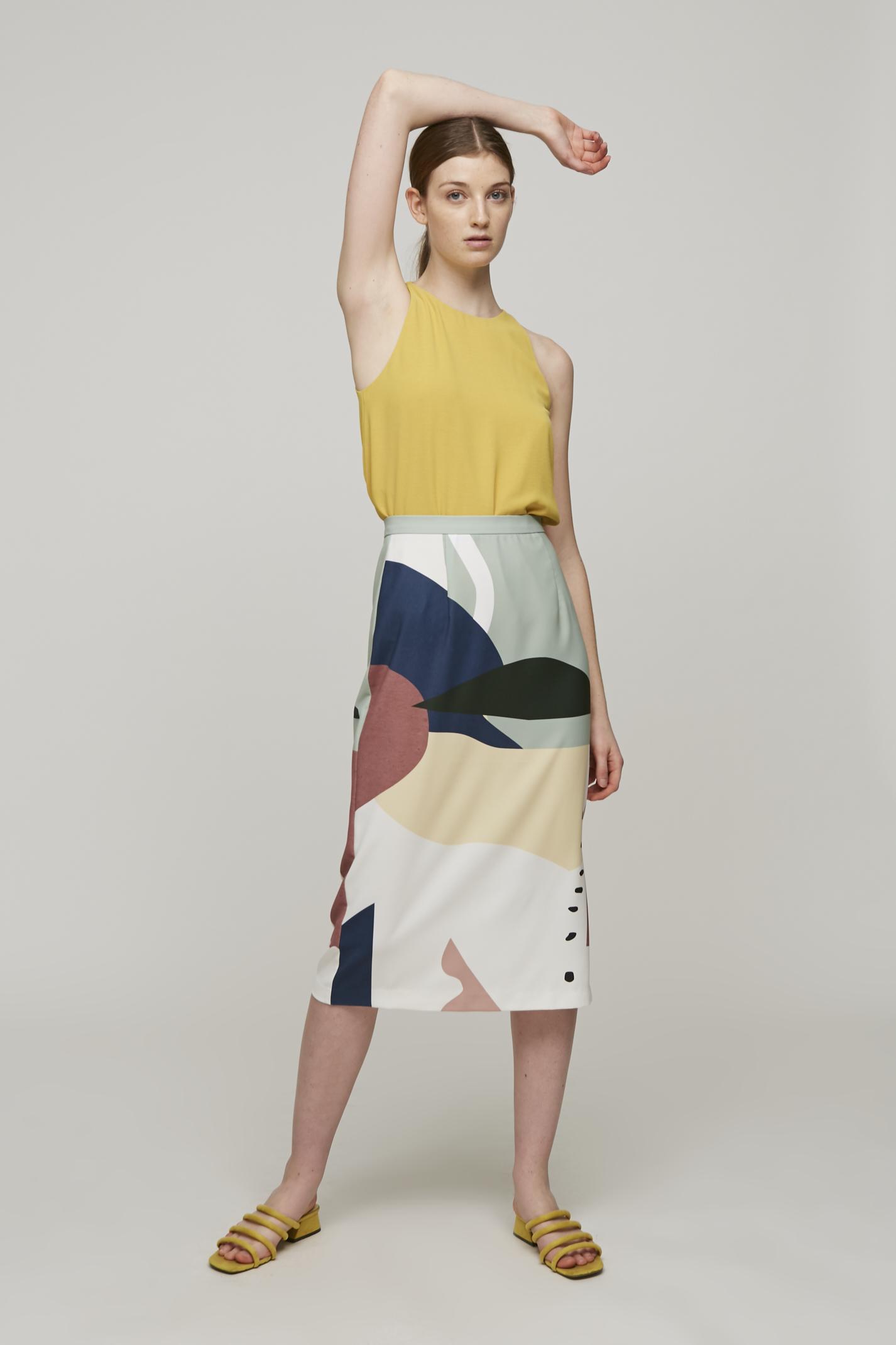 Roadmap Midi Skirt