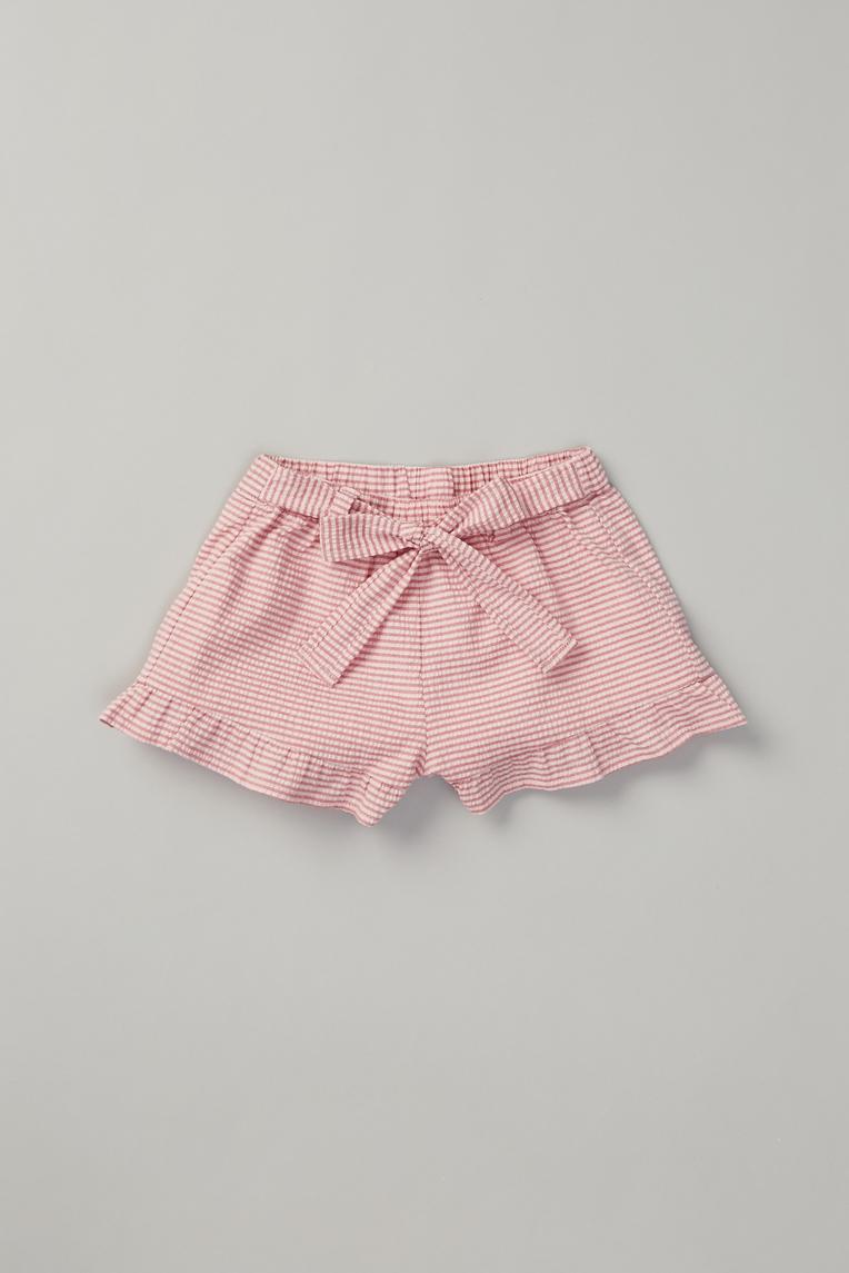 Seersucker Ruffle Shorts
