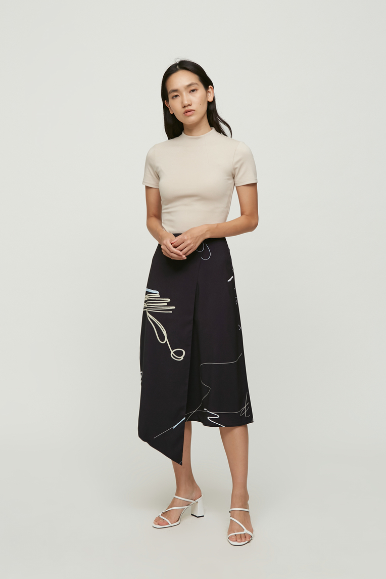 Trail Overlap Midi Skirt