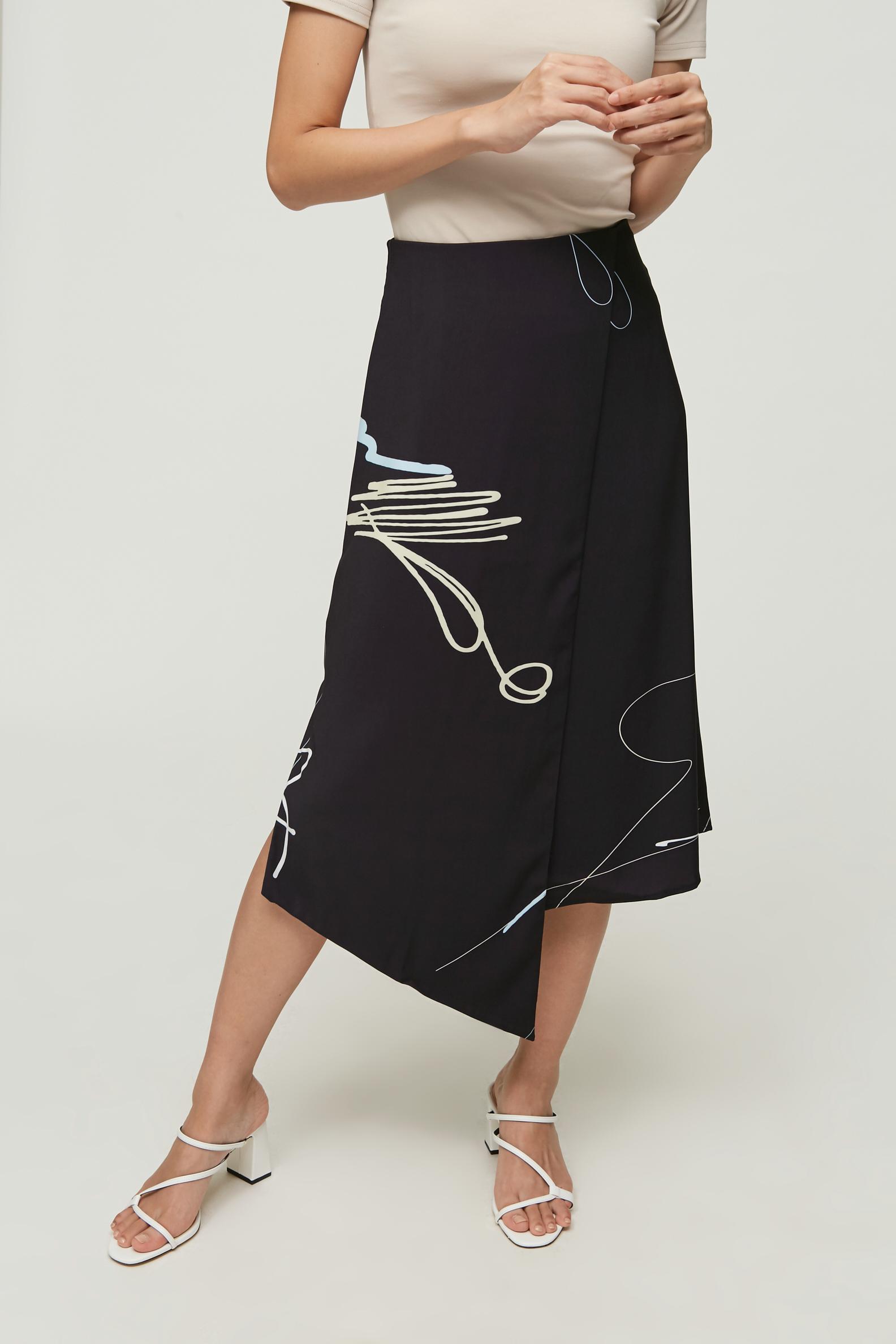 Trail Overlap Midi Skirt