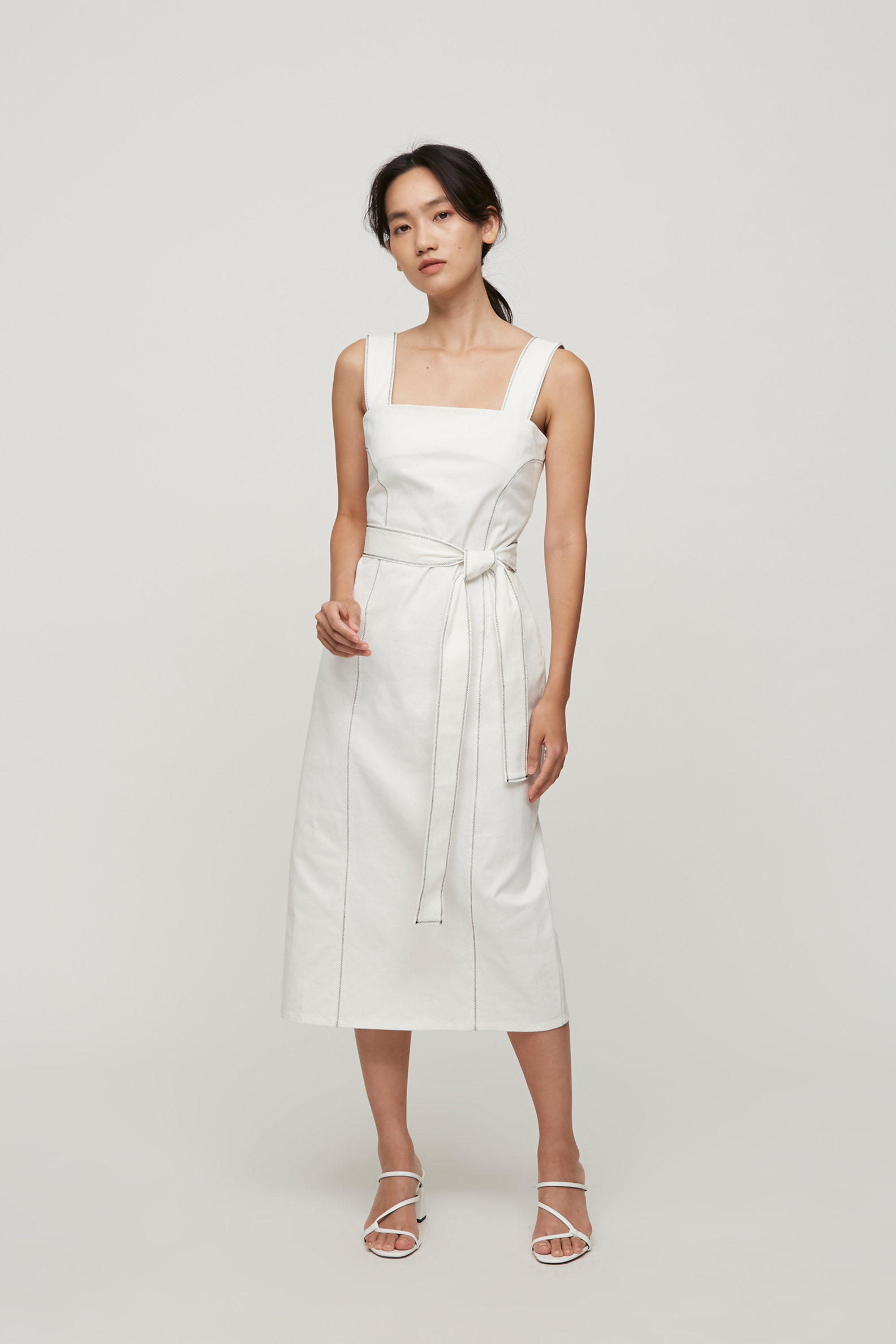 Contrast Seam Fitted Dress