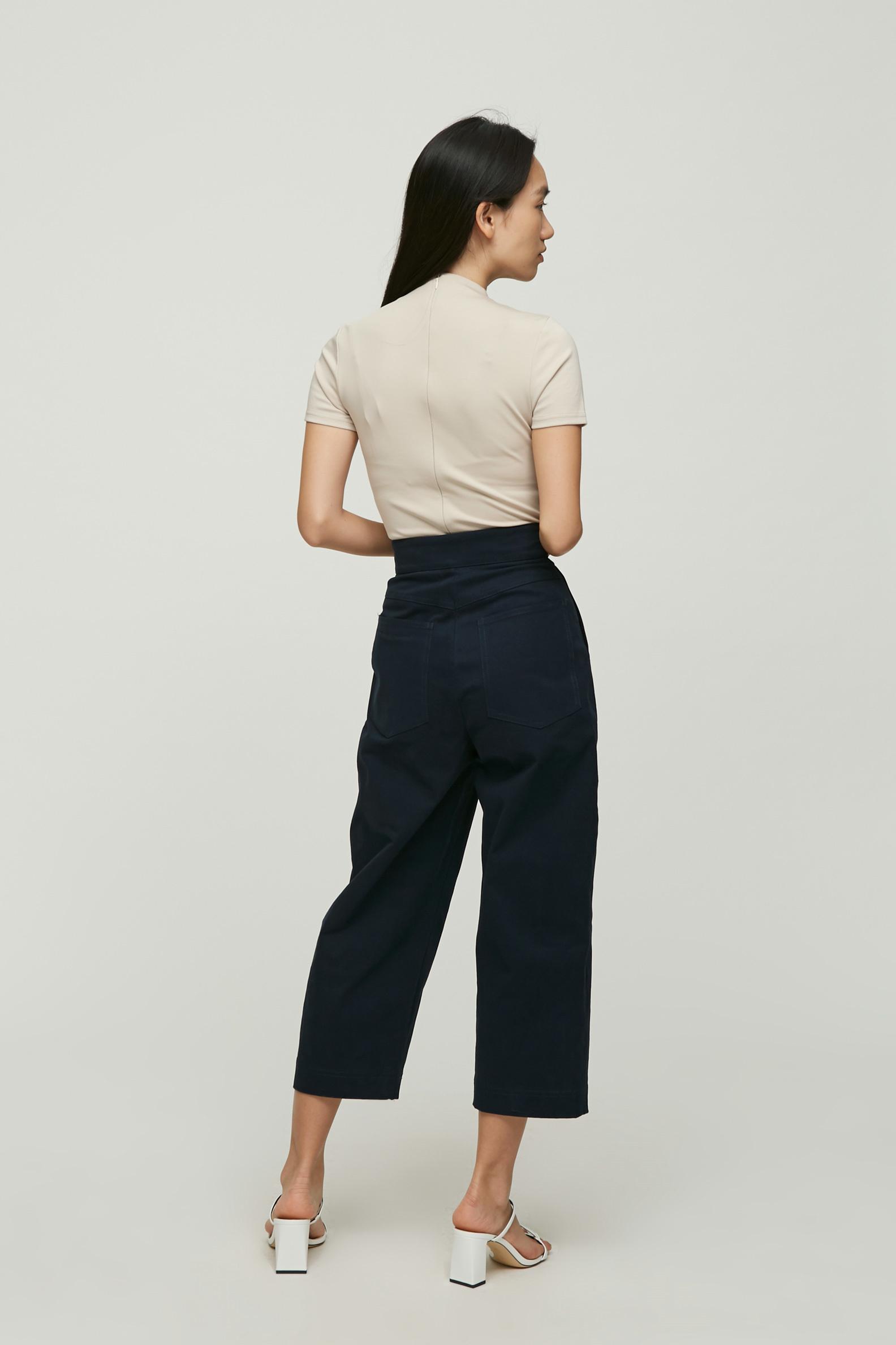 Cotton Pleat Pants