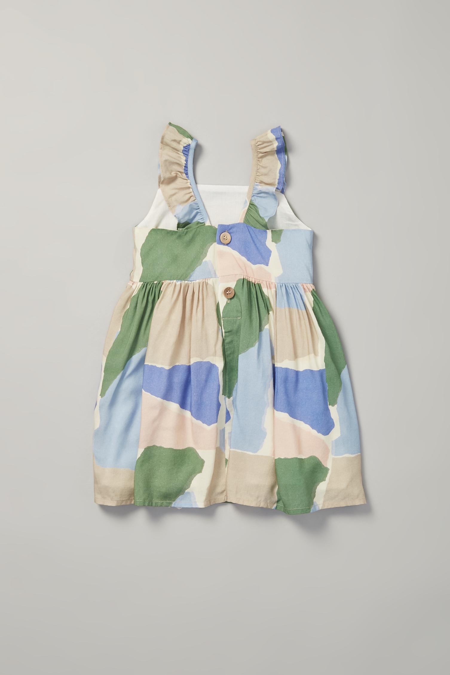 Harbour V-Back Ruffle Dress