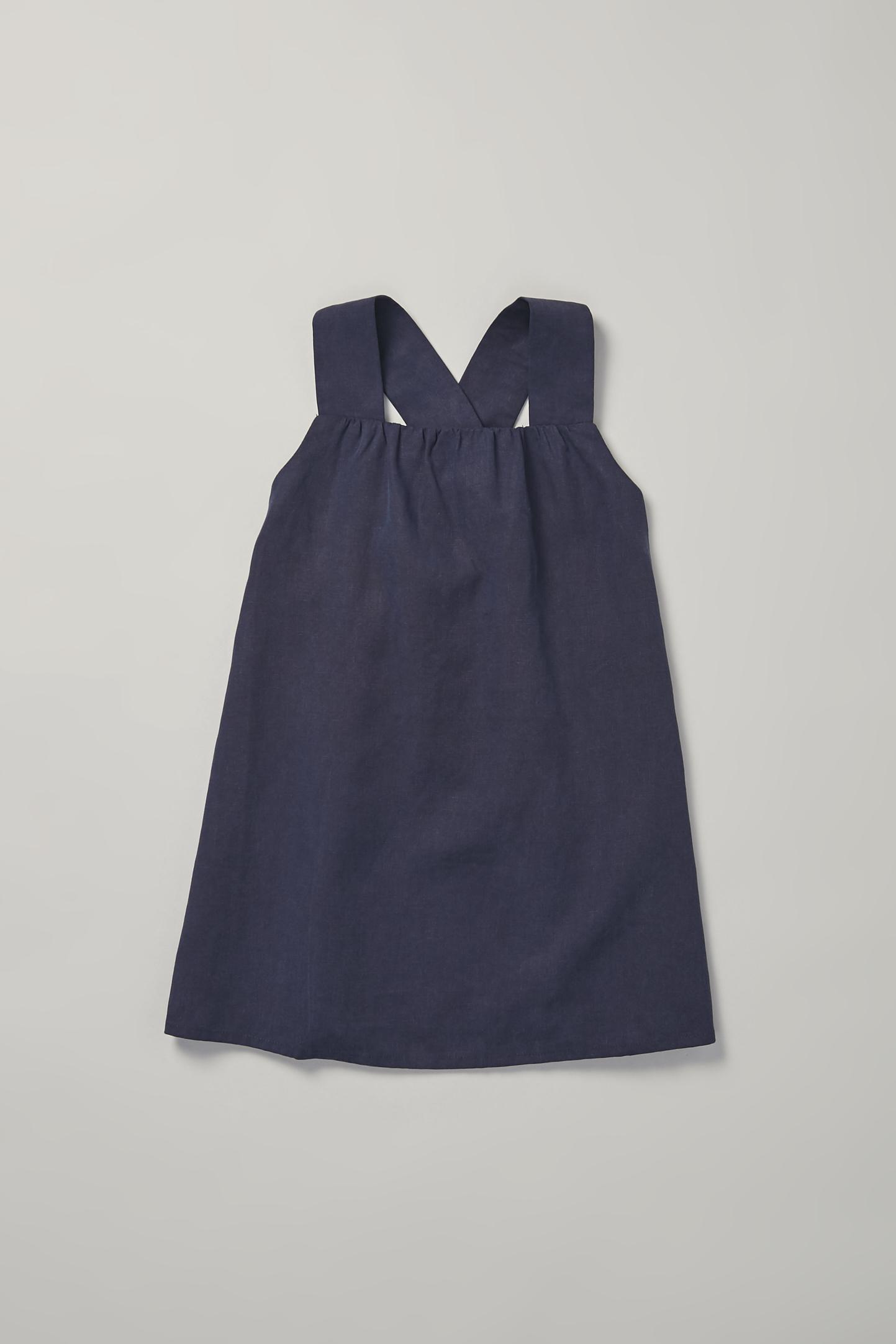 Gathered V-Back Tent Dress