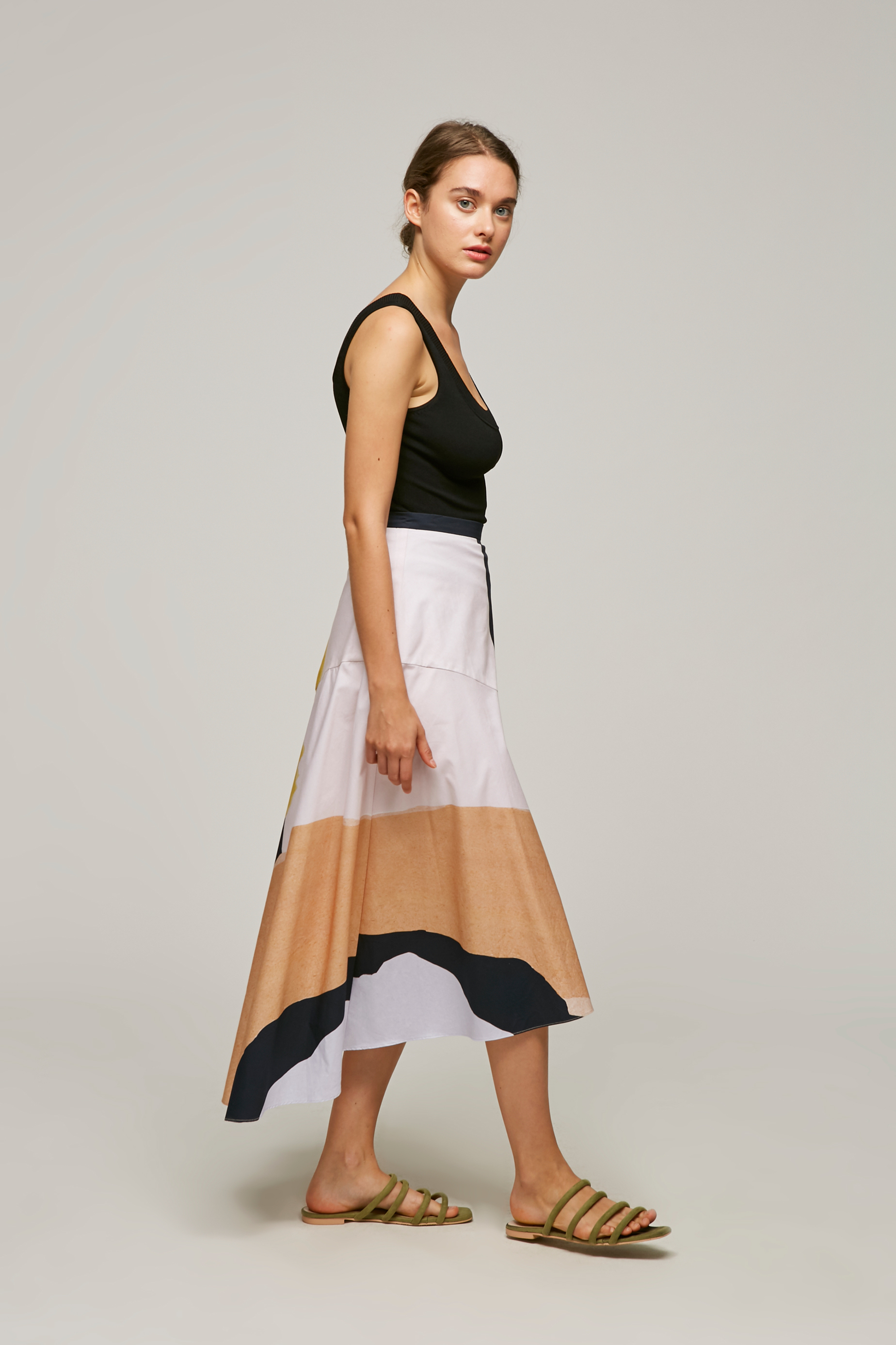 Harbour Cotton Midi Skirt